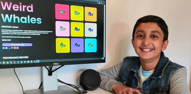 Benjamin Ahmed makes £290,000 by selling pixelated digital whale emojis as NFT