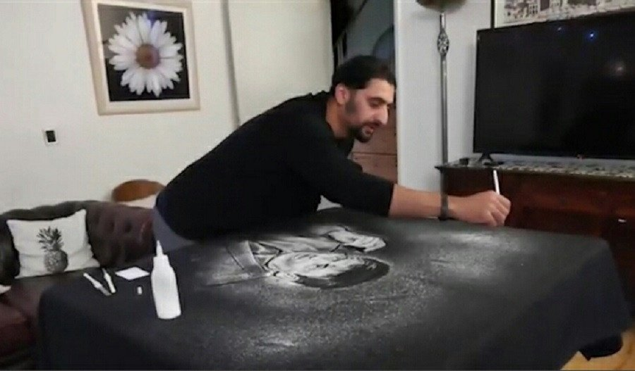 Pakistani artist Amir Hussain pays 'salty tribute' to renowned comic Umer Sharif