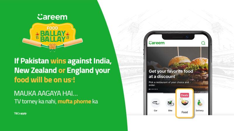 Free food from Careem if Pakistan wins